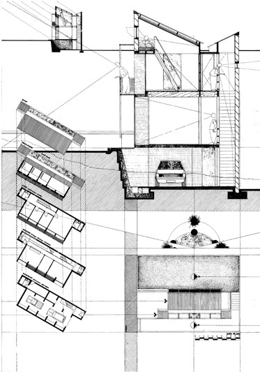 House Mohojane  |  Plans, Section & Elevation