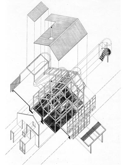 House Nxumalo  |  Exploded Axonometric