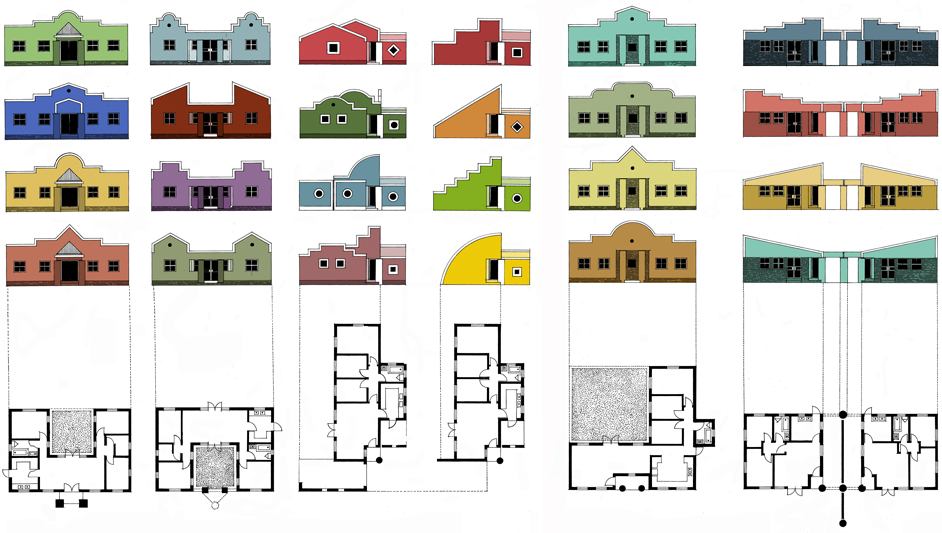 Lenasia South Housing  |  Elevations & Sections