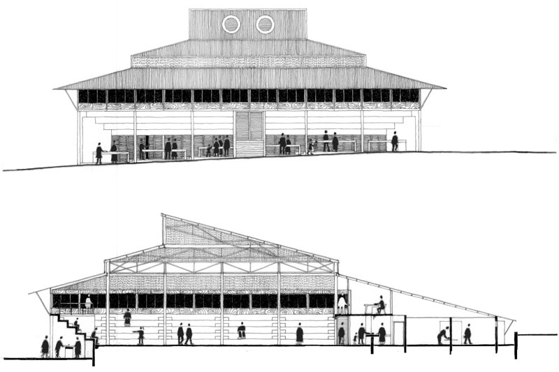Mdantsane Sports Centre  |  Elevation & Section
