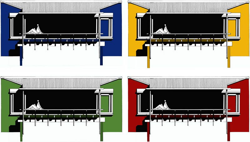 Speculative House  |  Elevation Colour Studies