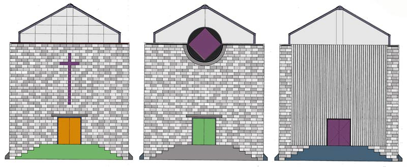 Three Rural Churches  |  Elevation Colour Studies