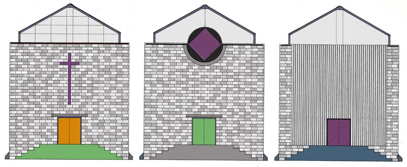 Three Rural Churches  |  Elevation Colour Studies