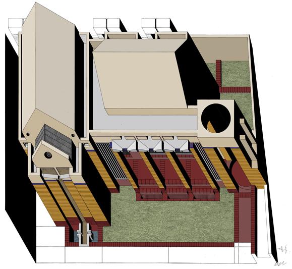 Tutu Chapel  |  Colour Axonometric