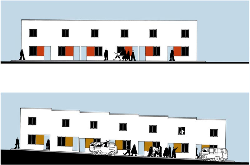 Red Location Housing  |  Elevations