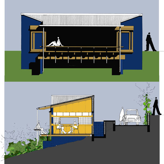 Speculative House  |  Colour Elevation & Section