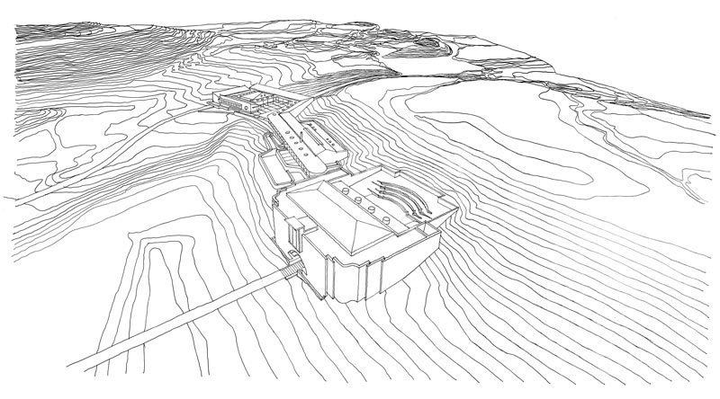Architectural drawings Sketchup West Coast Fossil Park 3d Noero Architects Architectural Drawings By Jo Noero Noero Architects Noero Architects